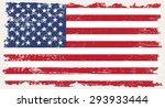 grunge usa flag.american flag... | Shutterstock .eps vector #293933444