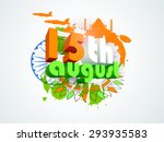 3d text 15th august in... | Shutterstock .eps vector #293935583