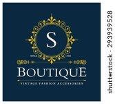 s letter logo  monogram design...   Shutterstock .eps vector #293939528