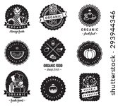 organic food logo badges...   Shutterstock .eps vector #293944346