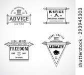 set of legal lawyer service... | Shutterstock .eps vector #293945303
