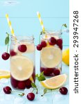 detox fruit infused flavored... | Shutterstock . vector #293947268