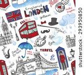 london landmark symbols ... | Shutterstock .eps vector #293950850