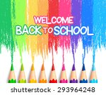 realistic set of colorful... | Shutterstock .eps vector #293964248