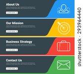 flat design concept. set of...   Shutterstock .eps vector #293964440