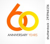 60 years old celebrating... | Shutterstock .eps vector #293966156