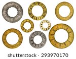 set of eight vintage clock face ...