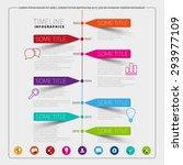 vector timeline infographic... | Shutterstock .eps vector #293977109