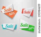 design shape origami banner.... | Shutterstock . vector #293984699