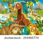 Cartoon Dinosaur Land  ...