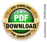 green pdf download badge with...