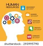 human resources design  vector... | Shutterstock .eps vector #293995790