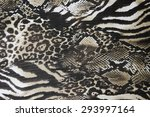 Texture Fabric Of Leopard Skin...