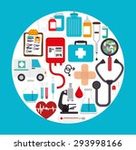 medical healthcare design ... | Shutterstock .eps vector #293998166