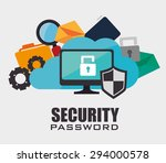 security digital design  vector ... | Shutterstock .eps vector #294000578