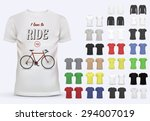 t shirt template set for men... | Shutterstock .eps vector #294007019