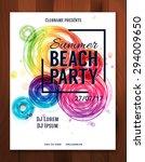 summer beach party. sunset.... | Shutterstock .eps vector #294009650