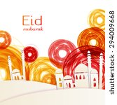 eid mubarak   traditional... | Shutterstock .eps vector #294009668
