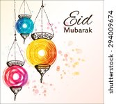 eid mubarak background. eid... | Shutterstock .eps vector #294009674