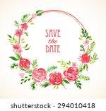 vintage vector card templates.... | Shutterstock .eps vector #294010418