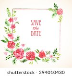 vintage vector card templates.... | Shutterstock .eps vector #294010430