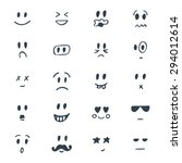 set of hand drawn smiley faces. ...   Shutterstock .eps vector #294012614