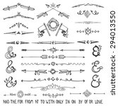doodles swirling border text...   Shutterstock .eps vector #294013550