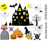 halloween elements set | Shutterstock .eps vector #294015869