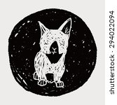 cat doodle drawing   Shutterstock . vector #294022094