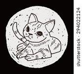 cat doodle drawing | Shutterstock . vector #294022124
