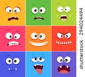 cartoon faces with emotions v.9 ...
