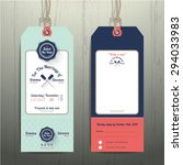 nautical hanging tag wedding... | Shutterstock .eps vector #294033983