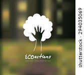 eco actions digital design ... | Shutterstock .eps vector #294035069