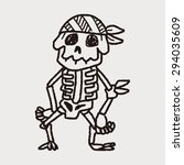 skull doodle | Shutterstock . vector #294035609