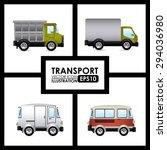 transport  digital design ... | Shutterstock .eps vector #294036980