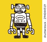 robot doodle   Shutterstock . vector #294044519