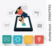 digital marketing design ...   Shutterstock .eps vector #294047993