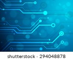 abstract technology circuit... | Shutterstock .eps vector #294048878