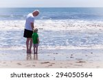 grandfather with his grandson... | Shutterstock . vector #294050564