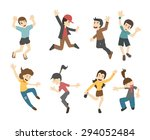 teenage jumping    eps10 vector ... | Shutterstock .eps vector #294052484