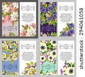 wedding invitation cards with... | Shutterstock . vector #294061058