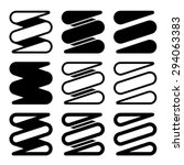 vector tension spring black... | Shutterstock .eps vector #294063383