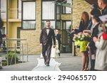 stylish luxury brunette  groom... | Shutterstock . vector #294065570