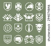 military logos of special... | Shutterstock . vector #294074846