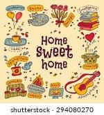housewarming sweet home... | Shutterstock .eps vector #294080270