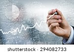 businessman hand drawing... | Shutterstock . vector #294082733