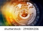 words news on digital yellow...   Shutterstock . vector #294084206