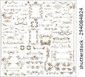 vector set of calligraphic... | Shutterstock .eps vector #294084824