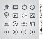 modern media web silhouettes... | Shutterstock .eps vector #294095228