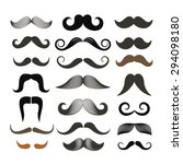 different retro style moustache ... | Shutterstock .eps vector #294098180